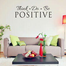 Think Do Positive Quote Wall Sticker Inspirational Removable Decal Room Decor