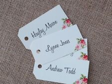 Vintage/Rustic 10 x 'Charlotte' place name tags for weddings, parties etc