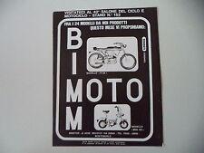 advertising Pubblicità 1971 MOTO BIMM BIMOTOR P4 A 50/MINI KS