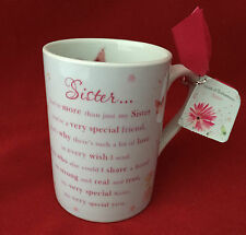 CARTE BLANCHE ME TO YOU WORDS OF ENDEARMENT SISTER VERSE POEM MUG GIFT