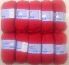 FULL PACK 10x50g Patons Diploma Gold Double Knit -  Tomato Red