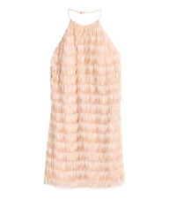 NWT Women H&M Dress with Fringe size 8 in Powder Pink