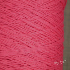 SOFT 4 PLY PURE COTTON CANDY PINK YARN 500g CONE 10 BALLS CROCHET WEAVING BRIGHT