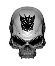 Transformer Skull Decal - Decepticon Sticker Graphic