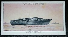 AKAGI    Imperial Japanese Navy Aircraft Carrier     Vintage Card  VGC
