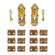 Vintage Door Lock with Keys And Hinges for 12th Dollhouse Miniature Furniture