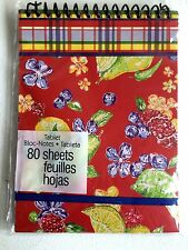 Fruit/Plaid April Cornell 80 Sheet Coiled Notepad