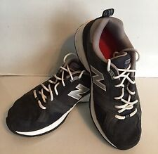 New Balance MX623 Men US 9.5 4E Navy Blue Mesh Suede Sneakers Pre Owned