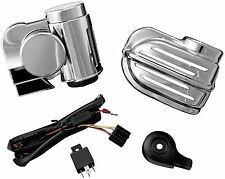 Kuryakyn 7743 Super Deluxe Wolo Bad Boy Horn Kit 41-9464 2107-0177