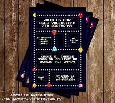 PacMan Birthday Party Invitation - 15 Printed W/envelopes