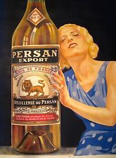 """Vintage French """"Persan Anis de France"""" Poster on Linen"""