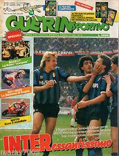 GUERIN SPORTIVO=N°12 1990 ANNO LXXVIII= BRASILE E SVEZIA=FILM DEL CAMPIONATO 29°