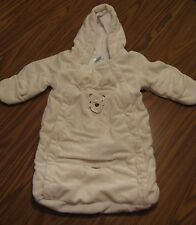 """""""Disney"""" White Double Zipper Baby Bunting with Seat Belt Hole Size 3 Months A485"""