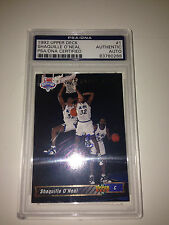 1992 Shaquille (Shaq) O'Neal Upper Deck Rookie Card RC Signed/Auto HOF PSA/DNA