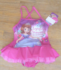 New Disney Jr Sofia the First Onepiece Swimsuit Purple Pink Ruffle Skirt 2T