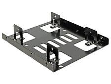 """Delock Metall Einbaurahmen für 2x 2,5"""" HDD/SSD Festplatten in 3,5"""" Einbauschacht"""