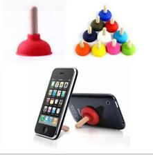 12x Plunger Holder Sucker Toilet Shape Wood Stand For CellPhone iPhone AU