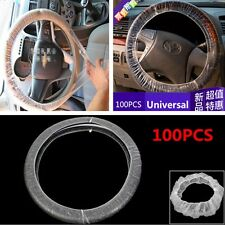 Set/100pcs Car Steering Wheel Cover For Universal Disposable Plastic Covers New
