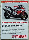 YAMAHA 1999 MODEL INFORMATION Motorcycle Sales Brochure YZF-R7 0W02 FZS600 ++