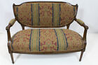 French Louis XVI Solid Walnut Loveseat Completely Reupholstered, circa 1920s'