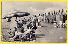 cpsm CAYEUX SUR MER en 1956 (Somme) Plage LES PLANCHES Cabines Belle Animations