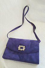 *SALVATORE FERRAGAMO* VINTAGE SUEDE SHOULDER BAG