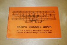 Daid'S orange LIBRO IN PLASTICA AEREI MODELER's Guide SCALA MODELER MAG 1970-77
