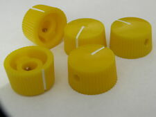 5 Yellow 20mm potentiometer knobs guitar amplifier radio pot knob + screw