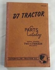 1945 CATERPILLAR D7 TRACTOR PARTS MANUAL / SERIAL NUMBER 7M1 to 7M4324 / 8978