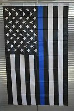 """New 1"""" Heavy Duty PVC Flag Pole Kit with Police Flag for Camping, RVing etc."""