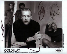 Coldplay Autograph Signed Photo Preprint Glossy Music Portrait Chris Martin