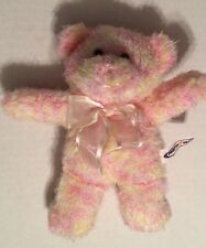 Mary Meyer Small Pink, Yellow Bear with Ribbon Plush