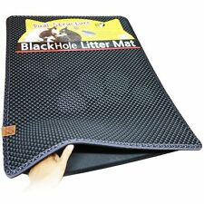 "Blackhole Cat Litter Mat - Super Size Rectangular 30"" X 23"" by Moonshuttle CXX"