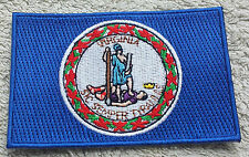 VIRGINIA STATE FLAG PATCH United States of America Embroidered Badge 6x9cm USA