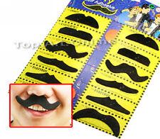 12X Nouveau Fausse Moustaches Auto-adhésif Six Styles Déguisement Cosplay Fête