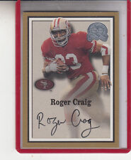 "2000 FLEER GREATS OF THE GAME ROGER CRAIG ""S.F.49ERS"""" AUTOGRAPH AUTO"