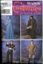 Jedi Robe, Tunic, Cape - Simplicity Sewing Pattern #5840 - Brand New