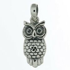 Silver pendant 925 sterling silver wise owl 25mm height wisdom stylish brand new