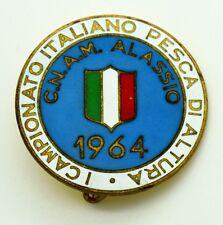 Spilla CNAM Alassio 1964 - I° Campionato Pesca Di Altura (A.E. Lorioli Fratelli)