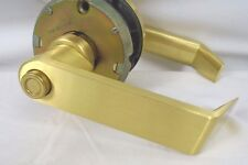 Schlage Rhodes DSeries Heavy Duty Satin Brass Entrance Lever D73PD RHO606 1HW