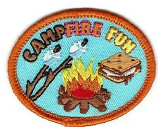 Girl Boy Cub CAMPFIRE FUN Smores Marshmallows Patches Crests Badges SCOUT GUIDE