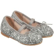 BLOCH BABY SILVER SPARKLE BALLERINA SHOES EU 21 UK 4.5