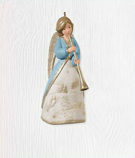 2010 Hallmark ANGEL IN BLUE Ornament MUSICAL MESSENGER Horn *Priority Ship