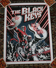 THE BLACK KEYS concert gig tour poster AUCKLAND 2012 RARE METALLIC VARIANT /AP