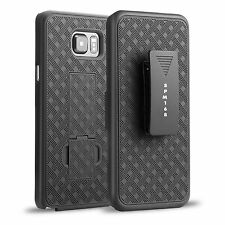 For Samsung Galaxy S7 Black Advanced Armor Stand Case Cover Holster