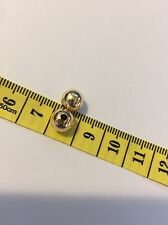 14k Solid Yellow Gold 8mm Beads Lot of 2