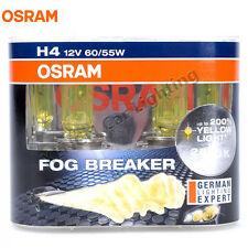 OSRAM H4 12V 60/55W 2600K Fog Breaker Super Yellow Car Halogen Bulbs 62193FBR
