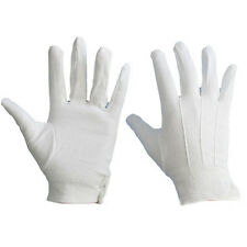 1 Pair White Formal Gloves Military Parade Thicken Etiquette Inspection Gloves