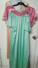 SLIGHTLY IRREGULAR 3 PACK  PEACH / PINK/GREEN    NIGHTGOWNS  SIZE 2X