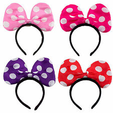 Lot of 12 Light UP Minnie Mouse Polka Dot Bow Ears Headband Mini